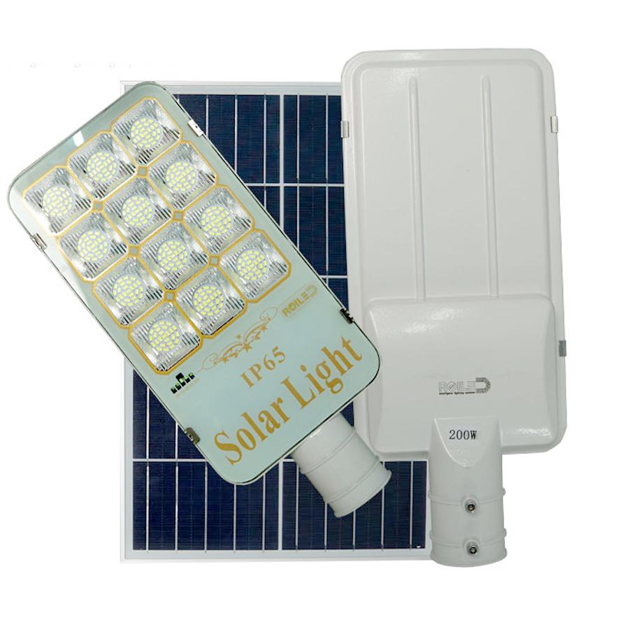 Đèn đường năng lượng mặt trời Roiled 200W - RF200W Tấm pin rời