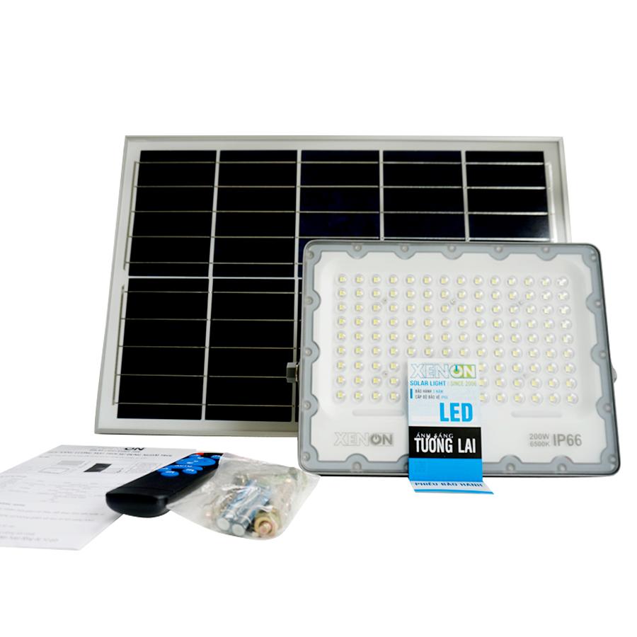 Đèn pha năng lượng mặt trời 200w Xenon Deluxe DL 200W chính hãng, bảo hành 3 năm