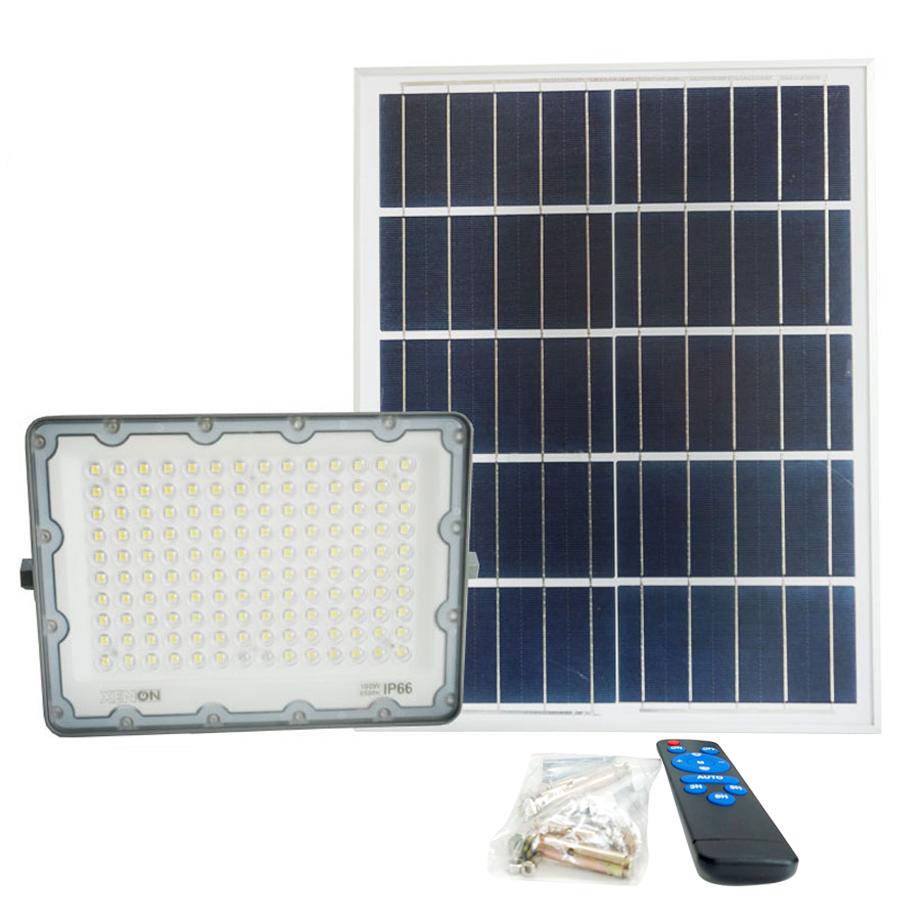 Đèn pha năng lượng mặt trời Xenon Deluxe DL100W | bảo hành 3 năm, chính hãng