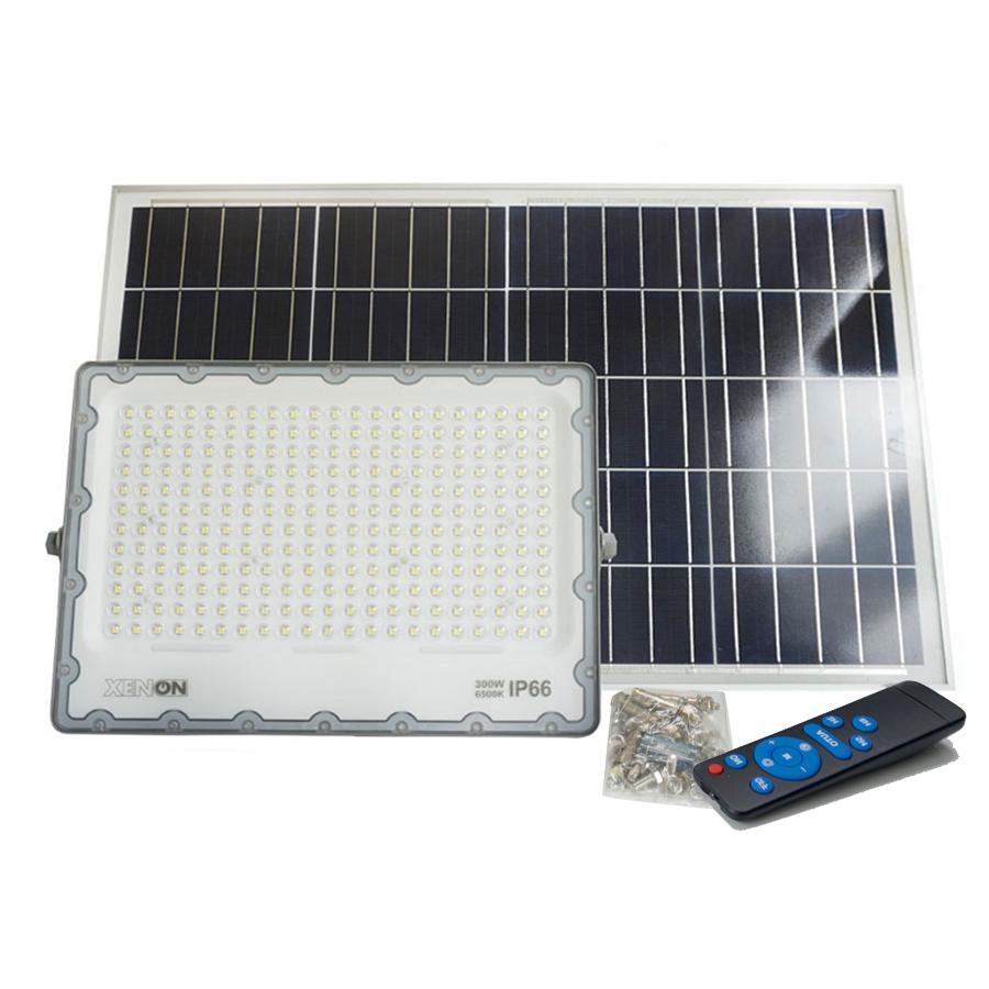Đèn pha năng lượng mặt trời 300w  Xenon Deluxe DL300W   độ sáng cao, chính hãng
