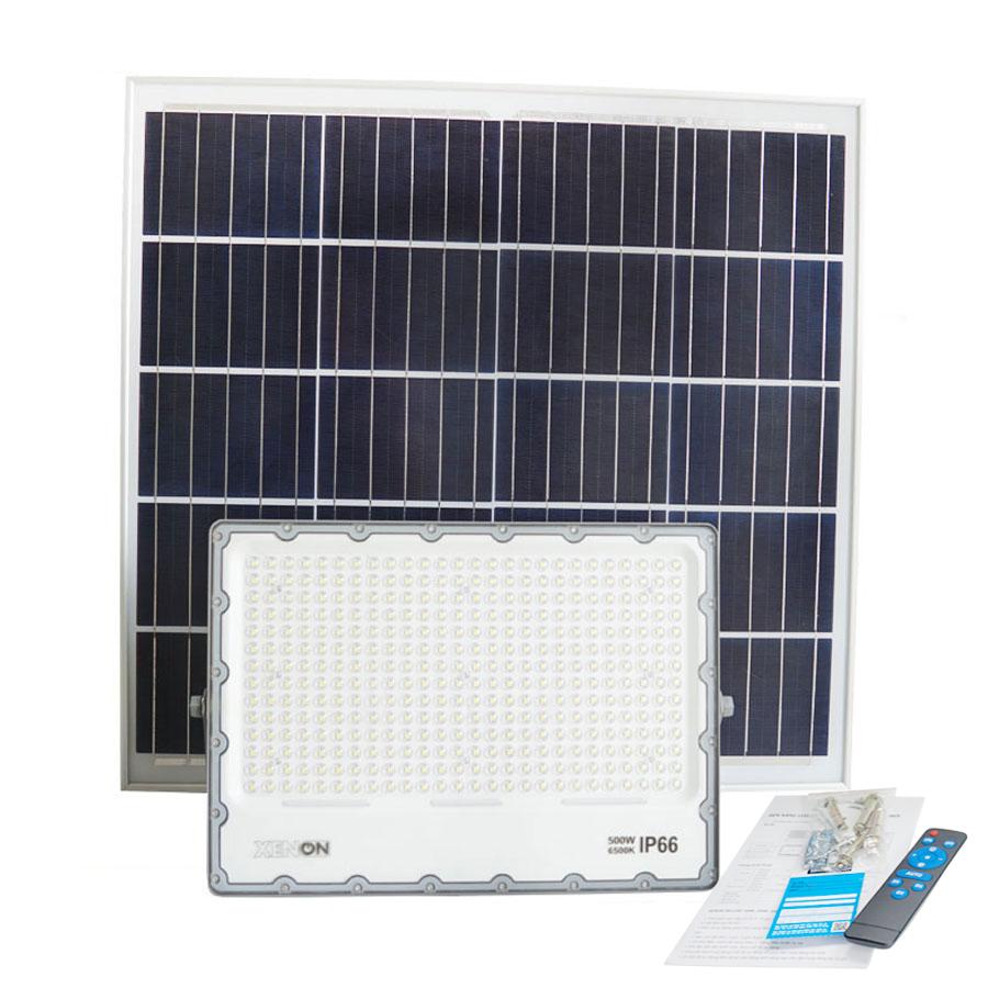 Đèn pha năng lượng mặt trời 500w | Xenon Deluxe DL500W | dành cho sân bóng mini
