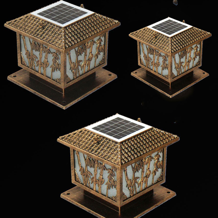 Solar Light Đèn trụ cổng năng lượng mặt trời LT3006 cao cấp