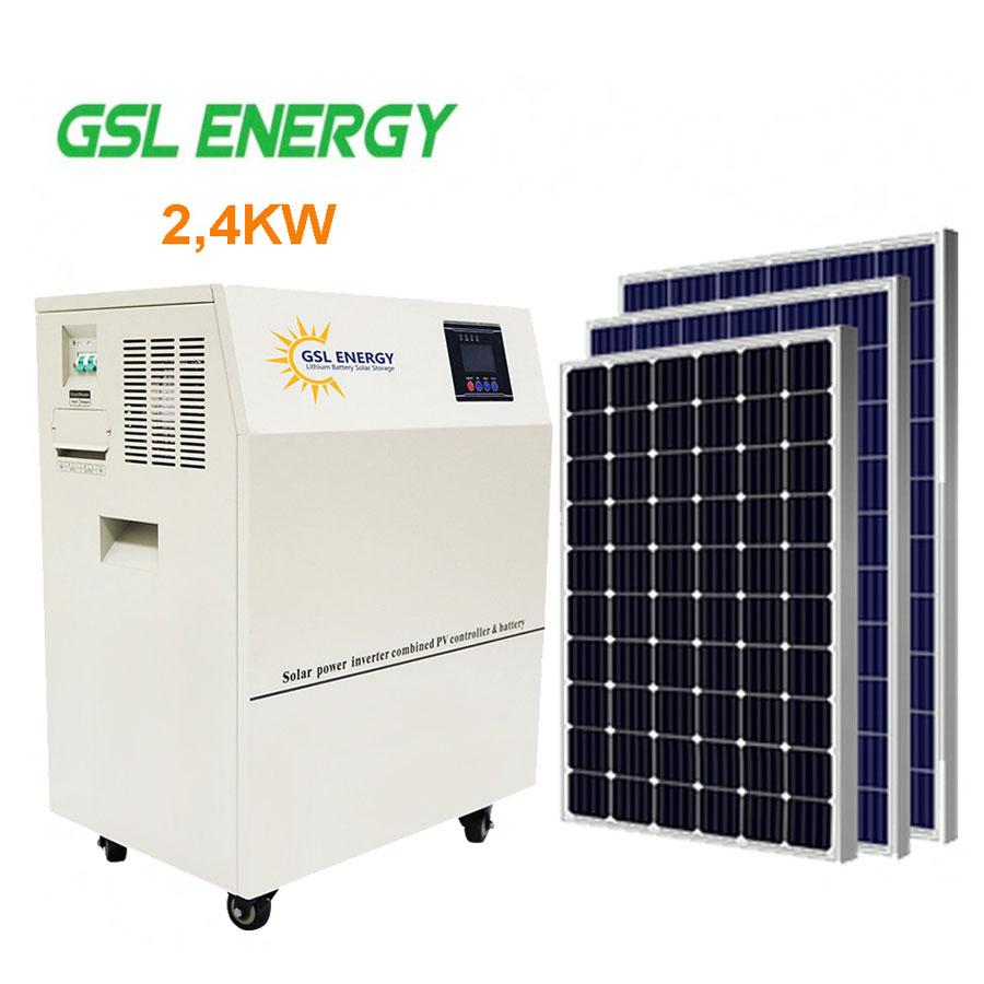 Hệ thống điện năng lượng mặt trời độc lập 2,4KW GSL