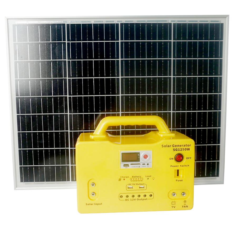 Máy phát điện năng lượng 240w Xenon   tặng kèm 6 đèn, dùng nơi không có điện