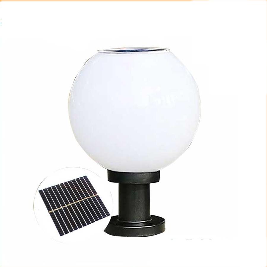 Solar Light Đèn trụ cổng tròn sử dụng năng lượng mặt trời cao cấp