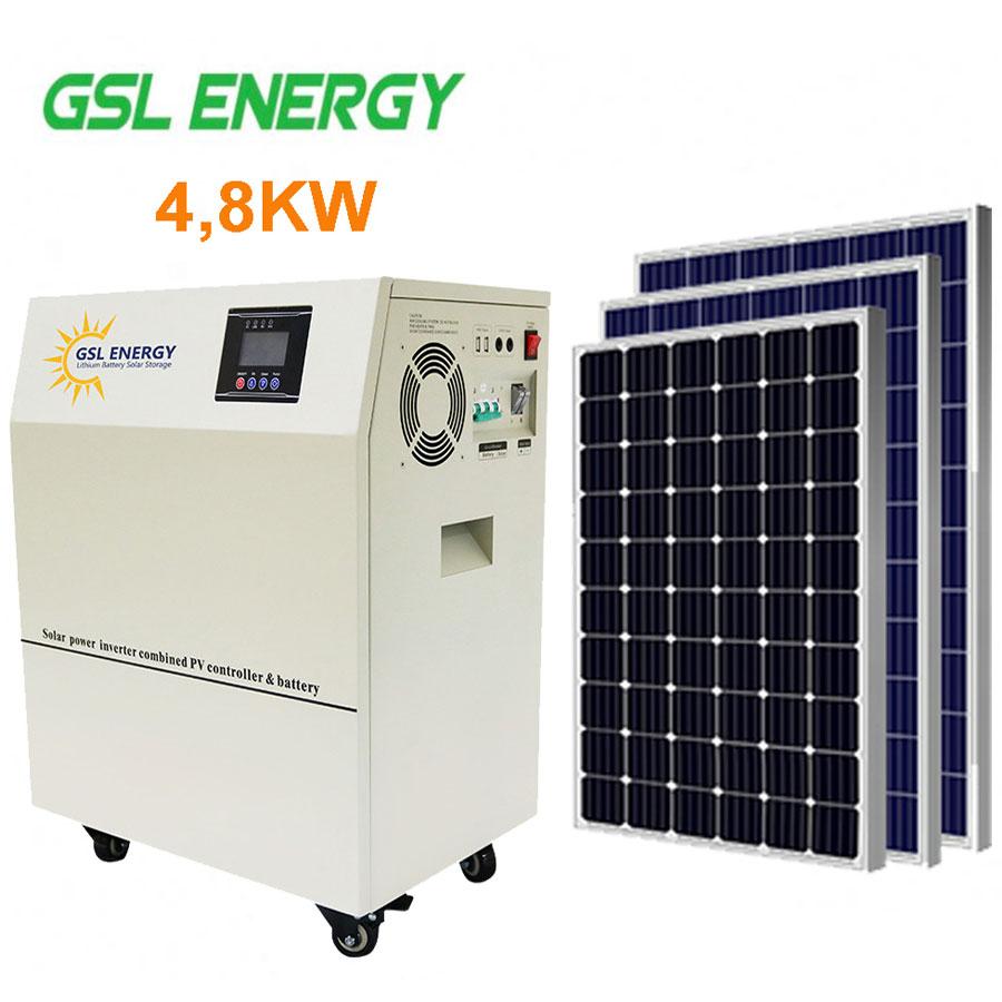 Trạm điện năng lượng mặt trời hệ độc lập 4,8 KW GSL