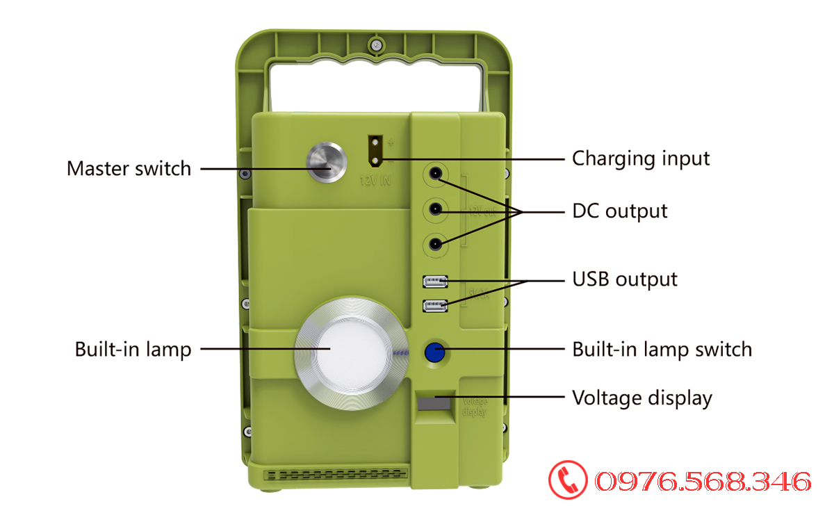 máy phát điện năng lượng mặt trời BCT 192wh
